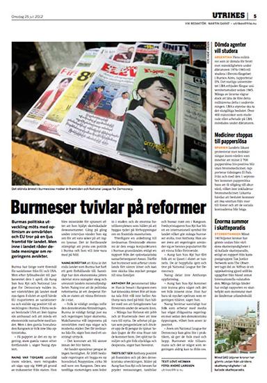 Burmas demokratiprocess - Fria Tidningen