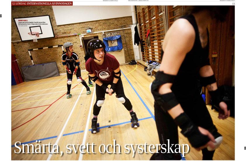 Växjö Rollerderby - Smålandsposten