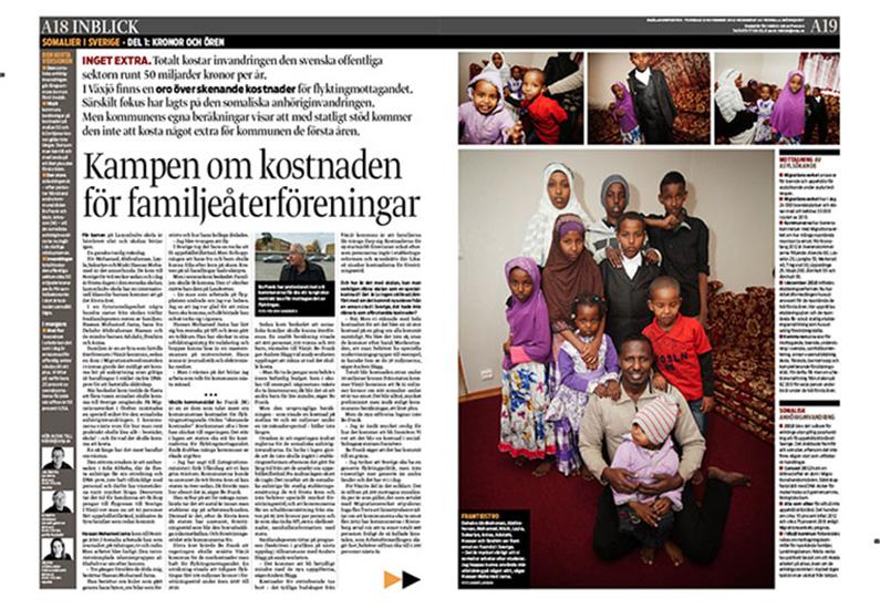 Kampen om kostnaden för familjeåterföreningarna för somaliska familjer - Smålandsposten