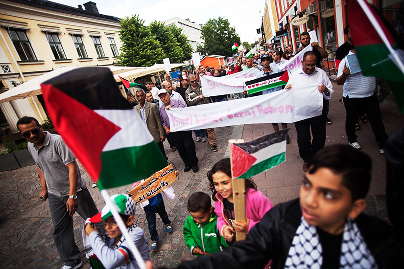 Demonstration for the people of Gaza in Växjö