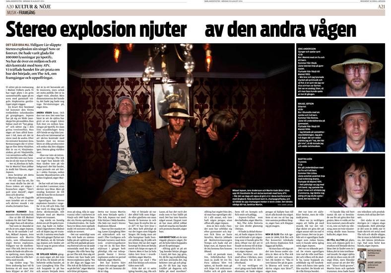 Stereo Explosion malmö - Smålandsposten